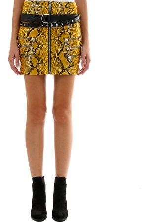UNRAVEL Python Leather Skirt