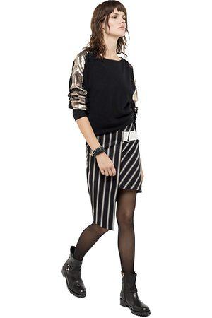 Patrizia Pepe Skirt Asymmetric London Stripe
