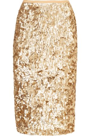 Michael Kors Embroidered Pencil Skirt