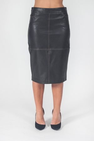 D.EXTERIOR Women Leather Skirts - Skirt faux leather sheath
