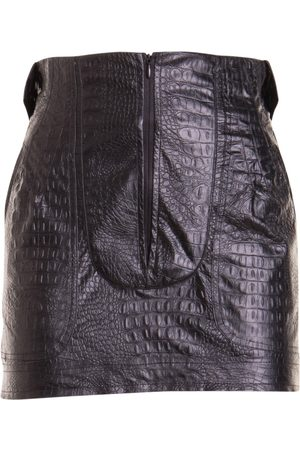 AMEN Women Printed Skirts - Croco print eco-leather mini skirt