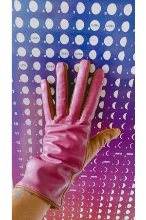 Numph Numiriall Pink Leather Gloves