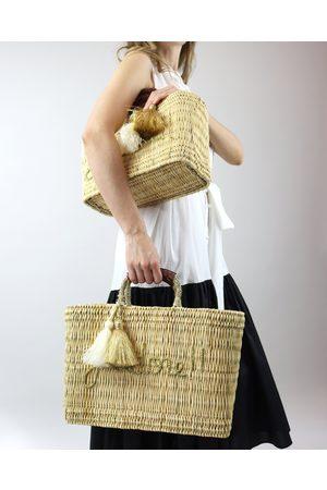 Women Purses - J'Adore Woven Raffia Beach Bag