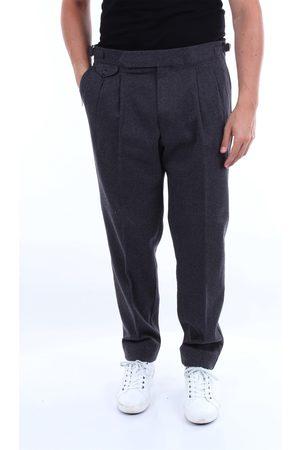 BARBA Trousers Chino Men and dark gray
