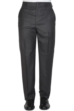 VALENTINO Wool Trousers with VLTN TIMES Print