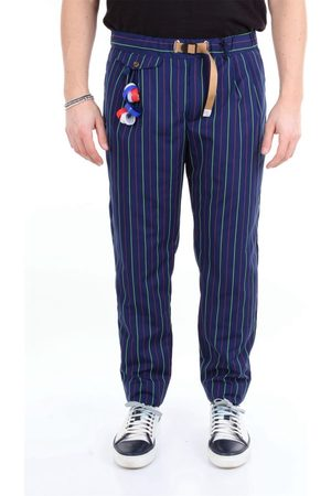 White Sand MEN'S 20SU12603BLUELETTRICO OTHER MATERIALS PANTS