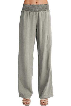 Bella Dahl Women Wide Leg - Smock waist wide leg trouser soft army