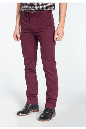 Merc London Winston Wine Burgundy Sta Press Chino Trousers