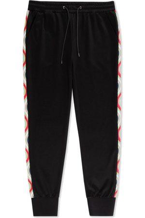 Paul Smith Cotton-Blend Sweatpants with Swirl Trim - Black