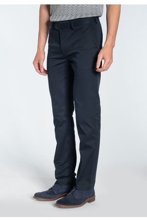 Merc London Winston Navy Sta Press Chino Trousers