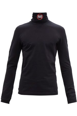 Vetements Men Long Sleeve - No Mainstream-print Cotton Long-sleeve T-shirt - Mens