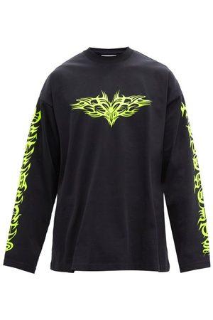 Vetements Gothic Logo-print Cotton-jersey T-shirt - Mens