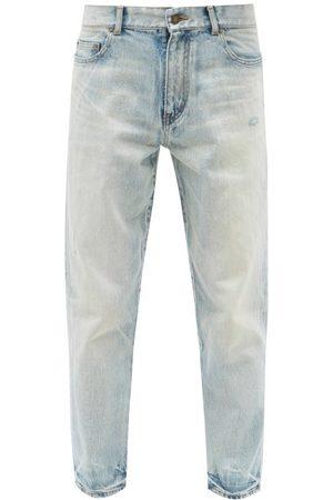Saint Laurent Distressed Slim-leg Jeans - Mens