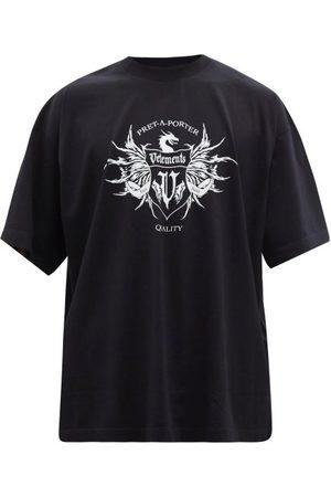 Vetements Men T-shirts - Label-print Cotton-jersey T-shirt - Mens