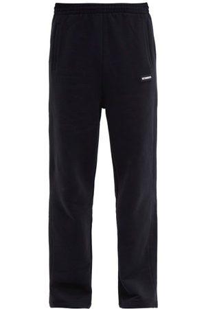 Vetements Logo-plaque Cotton-blend Jersey Track Pants - Mens