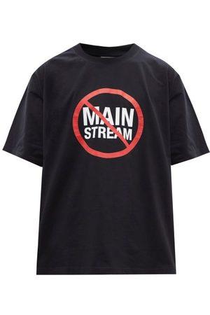Vetements No Mainstream-print Cotton-jersey T-shirt - Mens
