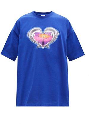 Vetements Oversized Dolphin Heart-print Cotton T-shirt - Mens