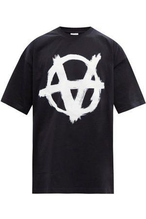 Vetements Anarchy-print Cotton-jersey T-shirt - Mens