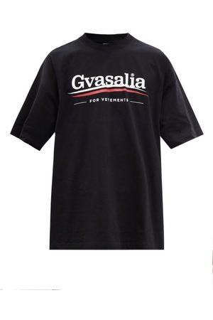 Vetements Men T-shirts - Logo-print Oversized Cotton-jersey T-shirt - Mens