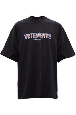 Vetements Oversized Union Jack-print Cotton-jersey T-shirt - Mens