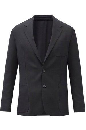 Paul Smith Wool-sharkskin Single-breasted Suit Jacket - Mens - Charcoal
