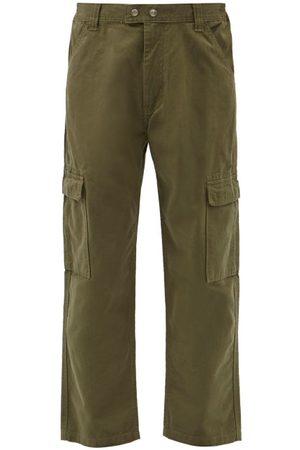 Frame Cotton-twill Cargo Trousers - Mens - Khaki