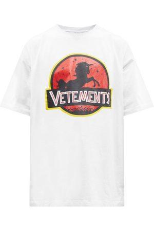 Vetements Wild Unicorn-print Cotton-jersey T-shirt - Mens
