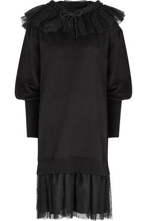 RED Valentino Ruffle-trimmed cotton-blend sweatshirt dress