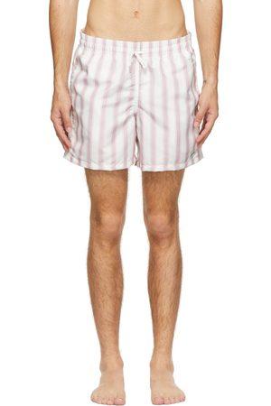Bather Pink & White Stripe Swim Shorts