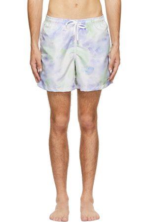 Bather Purple & Green Tie-Dye Swim Shorts