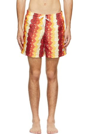 Bather Men Swim Shorts - Orange Tropics Swim Shorts