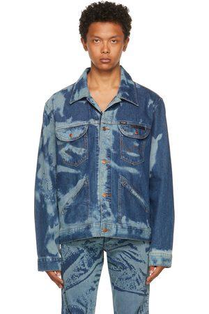 Bianca Saunders Blue Wrangler Edition Denim Scrunched Print Jacket
