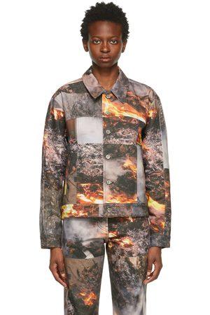 Serapis Multicolor Denim Fire Workwear Jacket