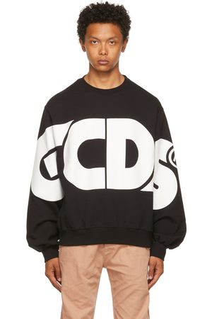GCDS Black Macro Logo Sweatshirt