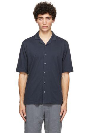 Sunspel Pima Piqué Camp Collar Short Sleeve Shirt