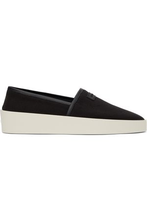 FEAR OF GOD Black Canvas Espadrille Sneakers