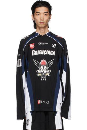 Balenciaga Black Hockey Long Sleeve T-Shirt