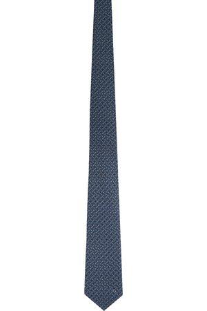 Gucci Navy Silk Horsebit Tie