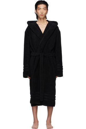 Balenciaga Black Terrycloth Resorts Robe