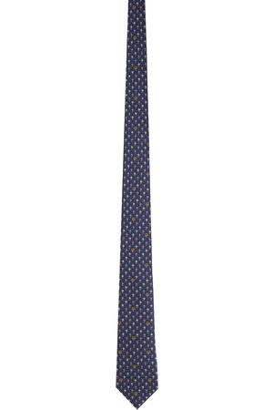 Gucci Purple & Pink Silk Interlocking G Flowers Tie