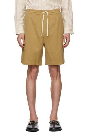 Gucci Khaki Embroidered Shorts