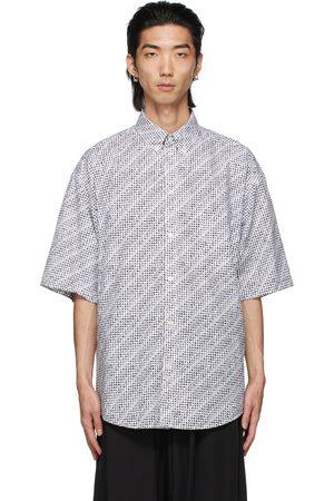 Balenciaga White Archive Letters Short Sleeve Shirt
