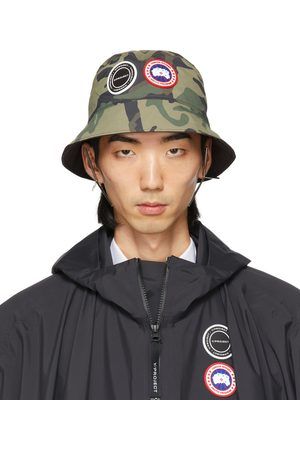 Y / PROJECT SSENSE Exclusive Reversible White Canada Goose Edition Camo Bucket Hat