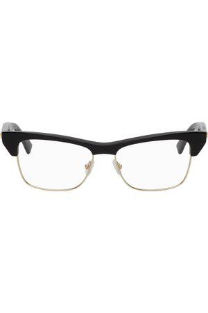 Bottega Veneta Black Shiny Cat-Eye Glasses