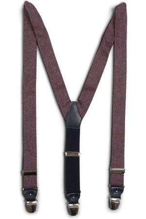40 Colori Silk & Cotton Braces - Burgundy