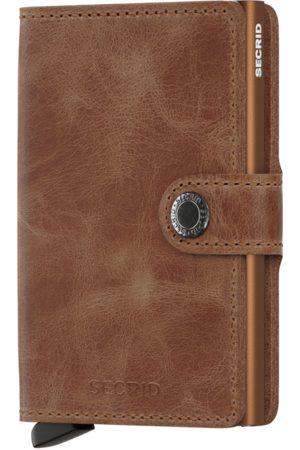 Secrid Men Wallets - Vintage Cognac Leather Mini Wallet