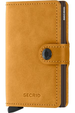 Secrid Vintage Ochre Leather Mini Wallet