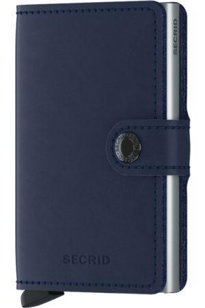 Secrid Men Wallets - Original Navy Leather Mini Wallet