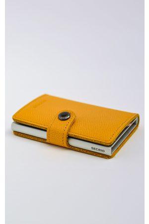 Secrid Crisple Amber Leather Mini Wallet