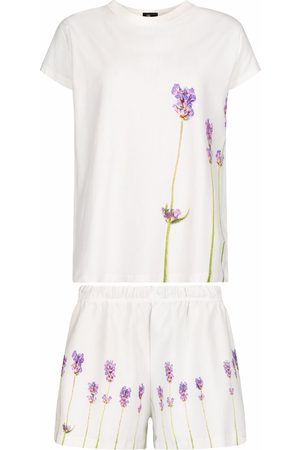 From My Mother's Garden LAVENDER PJ SET IVORY